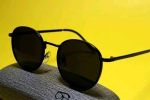 Round Black Sun Glasses
